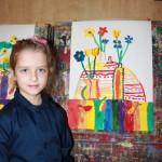 Наш класс 1-В 2014 года. Наши первые художества, наши первые картины в Херсонской художественной школе 2014-2015 учебные года. 1v-klass-2014-goda-14