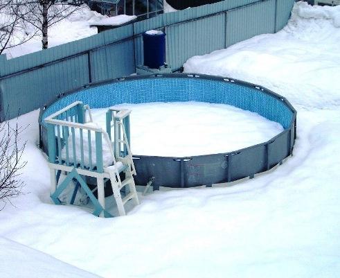 Нужно ли убирать каркасный бассейн на зиму?