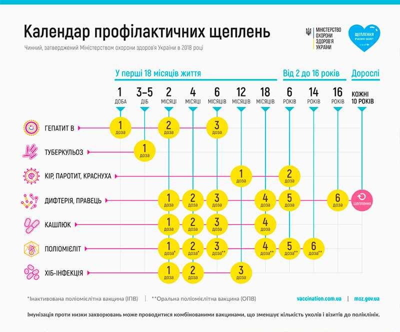 Календарь прививок правила вакцинации детей изменены