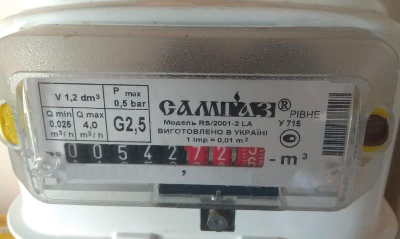 Встановлення побутових лічильників побутовим споживачам газу